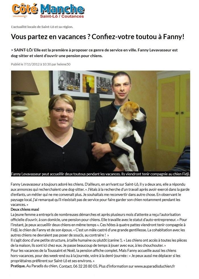 Article Côté Manche