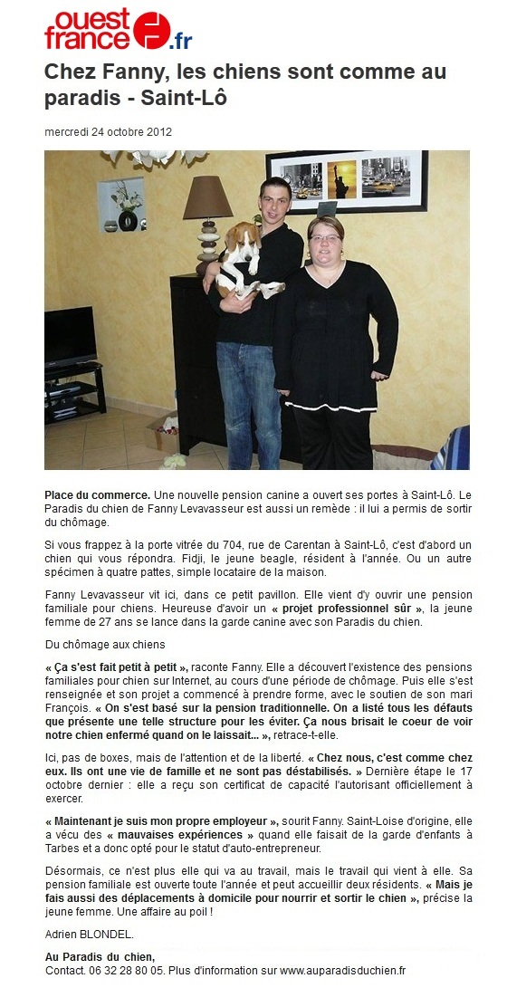 Article Ouest-France