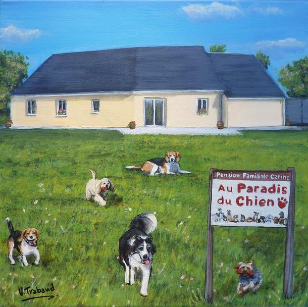 tableau-peinture-maison-avec-chien-pension-familiale-canine-virginie-trabaud.jpg